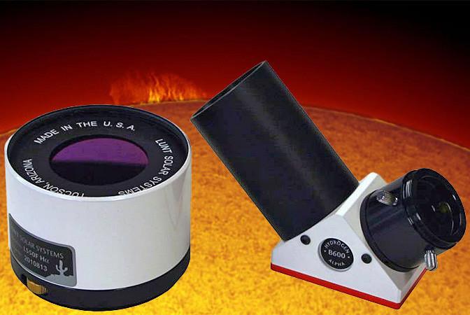 """LUNT 50mm Ha Etalon-Filter-System, B600 Blocking Filter für 2"""" Auszüge"""