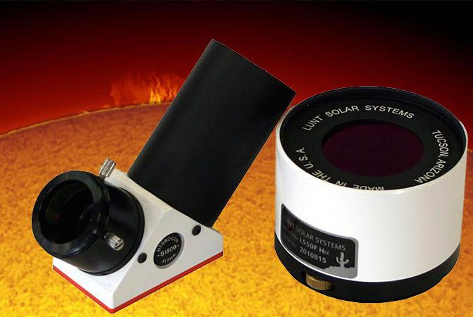 """LUNT 50mm Ha Etalon-Filter-System, B1800 Blocking Filter für 2"""" Auszüge"""