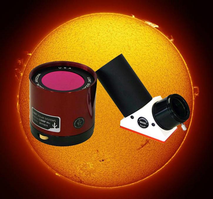 """LUNT 60mm Ha Etalon-Filter-System, B600 Blocking Filter für 2"""" Auszüge"""