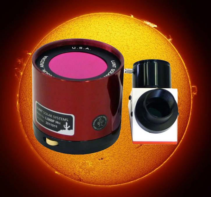 """LUNT 60mm Ha Etalon-Filter-System, B1800 Blocking Filter für 1.25"""" Auszüge"""