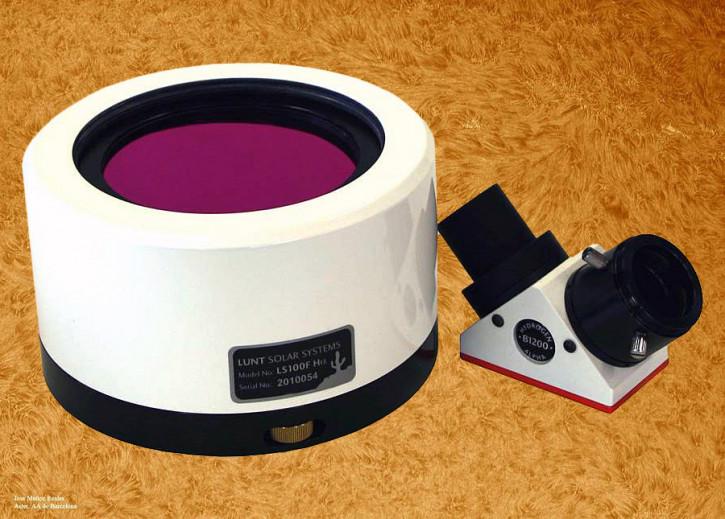 """LUNT 100mm Ha Etalon-Filter-System, B1200 Blocking Filter für 1.25"""" Auszüge"""