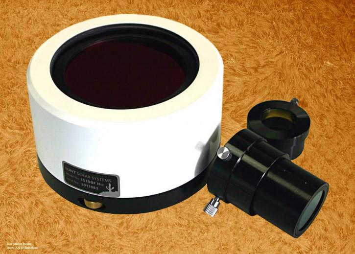 """LUNT 100mm Ha Etalon-Filter-System, B3400 Blocking Filter für 2"""" Auszüge"""