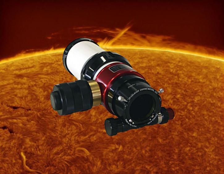 "LUNT 60mm H-a Teleskop, 2"" Feather Touch Auszug, Pressure Tuner, OHNE Blocking Filter"