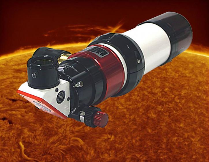 LUNT 60mm Ha Teleskop + DS 60 Filter, B600, Pressure Tuner, Feather Touch Auszug