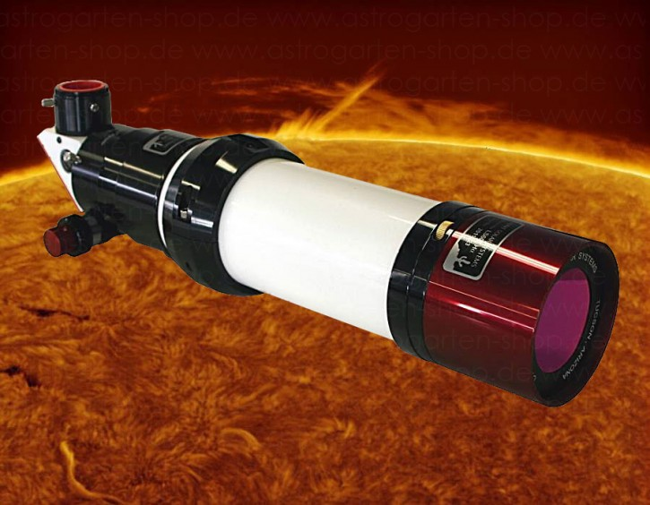 LUNT 60mm Ha Teleskop + DS 60 Filter, B1200, Feather Touch Auszug