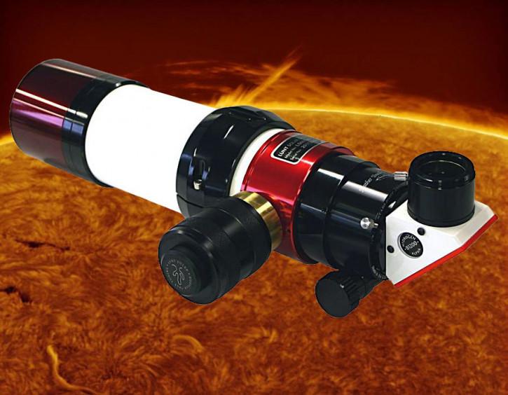 LUNT 60mm Ha Teleskop + DS 60 Filter, B1200, Pressure Tuner, Feather Touch Auszug
