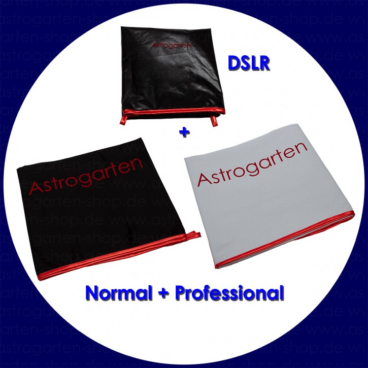 Astrogarten Observation cloths Set Deluxe: DSLR Cloth Professional, Normal and Professional (black/white)