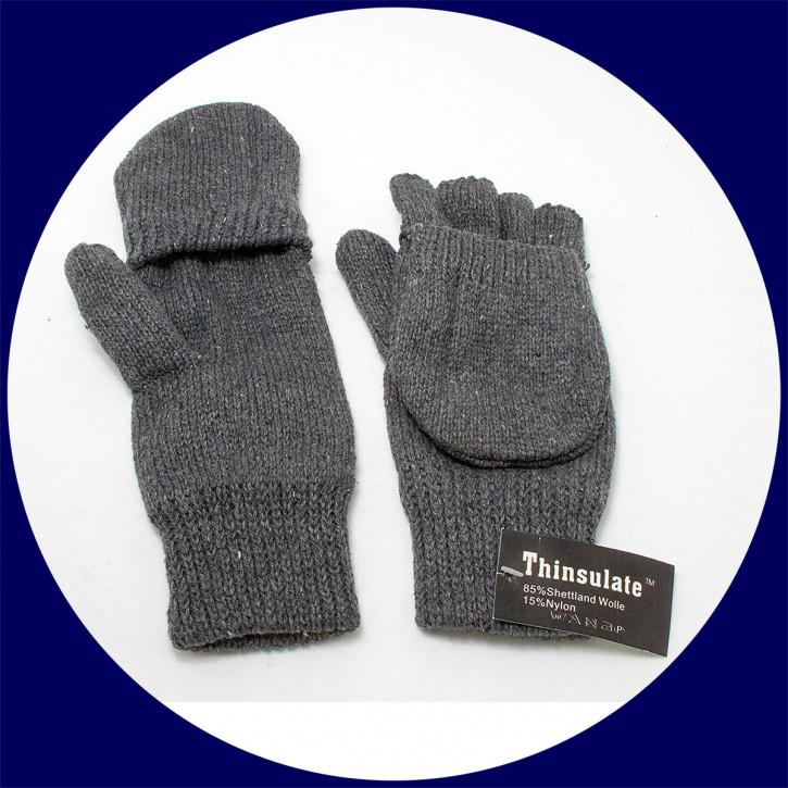 Astrogarten Strickfausthandschuh Shetland - klappbar, freie Finger, Gr. S-M