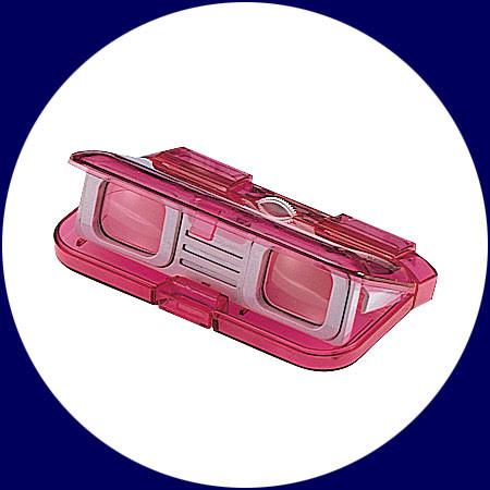 Vixen aufklappbares Opernglas 3x28 pink Translucent