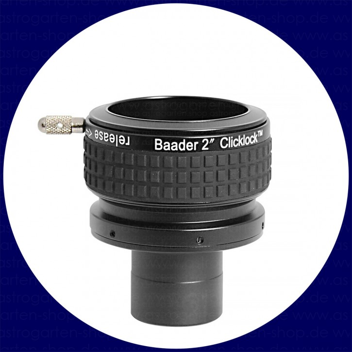 "Baader 2 inch ClickLock clamp 1¼""/T-2i expansion (from 1¼"" and/or T-2a photo-thread to 2"")"
