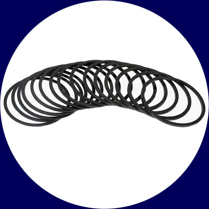 T-2 Delrin-Abstimmringe (Satz: 15 Ringe/5 Stärken)