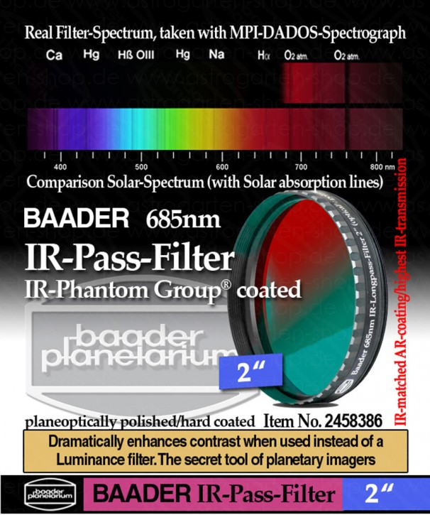 Baader IR-Pass-Filter (685nm)