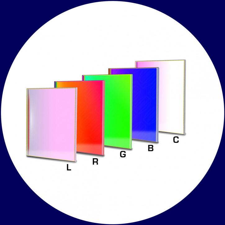 Baader LRGBC CCD-Filtersatz 65x65mm