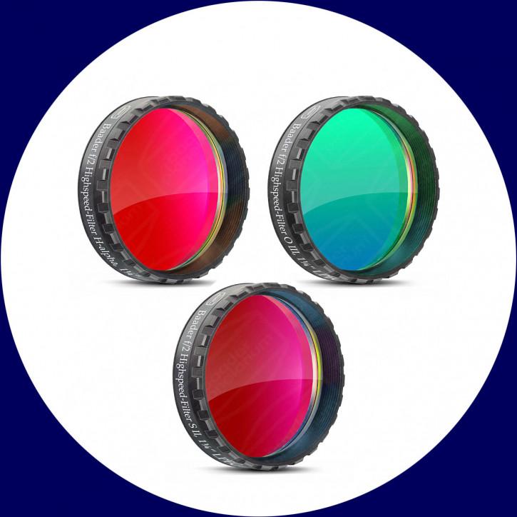 """Baader f/2 Highspeed Filtersatz 1.25"""": H-alpha, O III, S II"""
