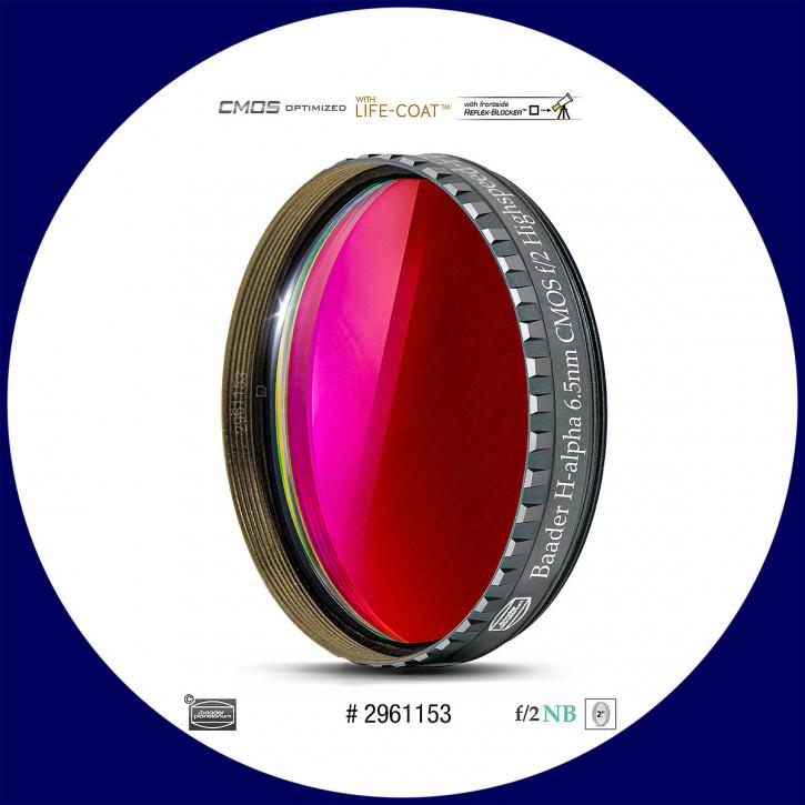 "Baader H-alpha 6.5nm Schmalband (Narrowband) f/2 Highspeed Filter 2"" - CMOS optimiert"