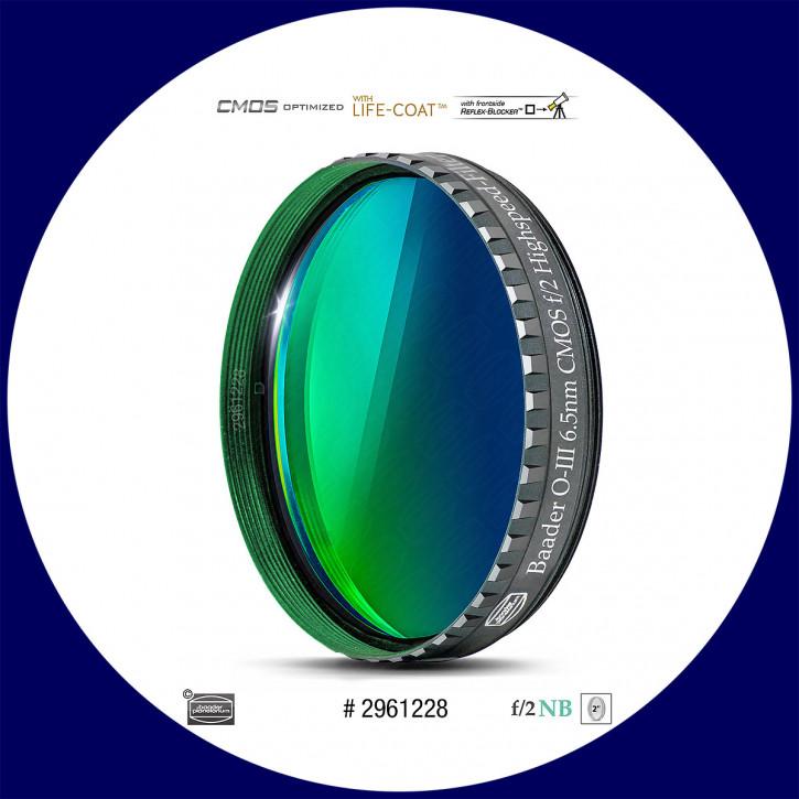 "Baader O-III 6.5nm Schmalband (Narrowband) f/2 Highspeed Filter 2"" - CMOS optimiert"