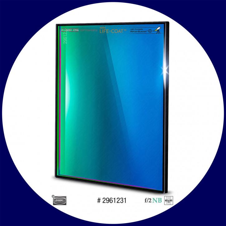 Baader O-III 6.5nm Schmalband (Narrowband) f/2 Highspeed Filter 65x65mm - CMOS optimiert