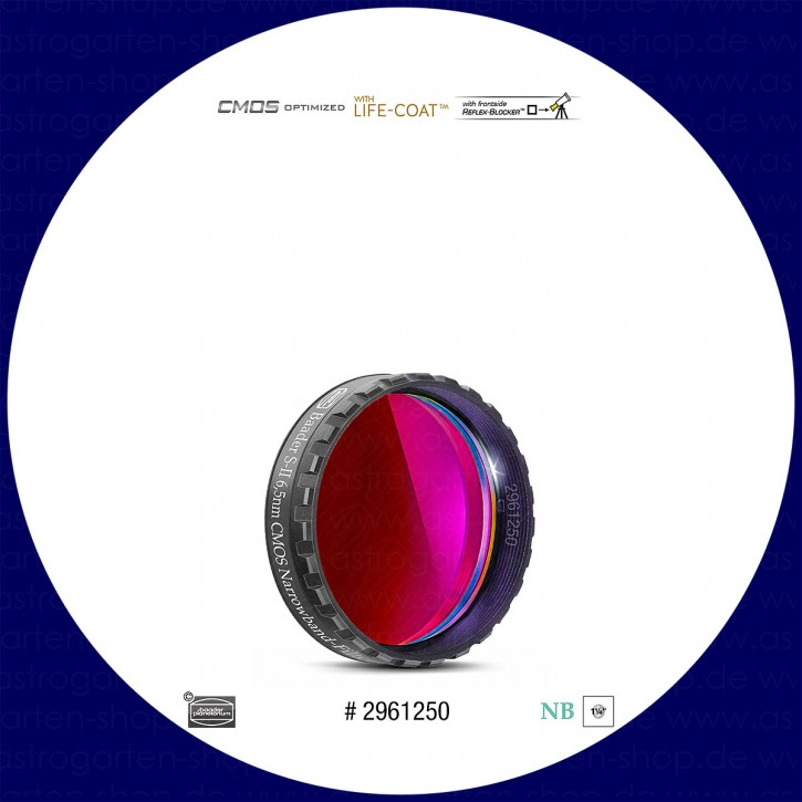"""Baader S-II 6.5nm Schmalband (Narrowband) Filter 1¼"""" - CMOS optimiert"""