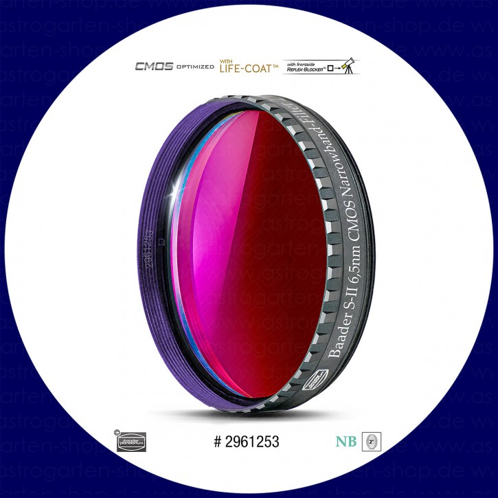 """Baader S-II 6.5nm Schmalband (Narrowband) Filter 2"""" - CMOS optimiert"""