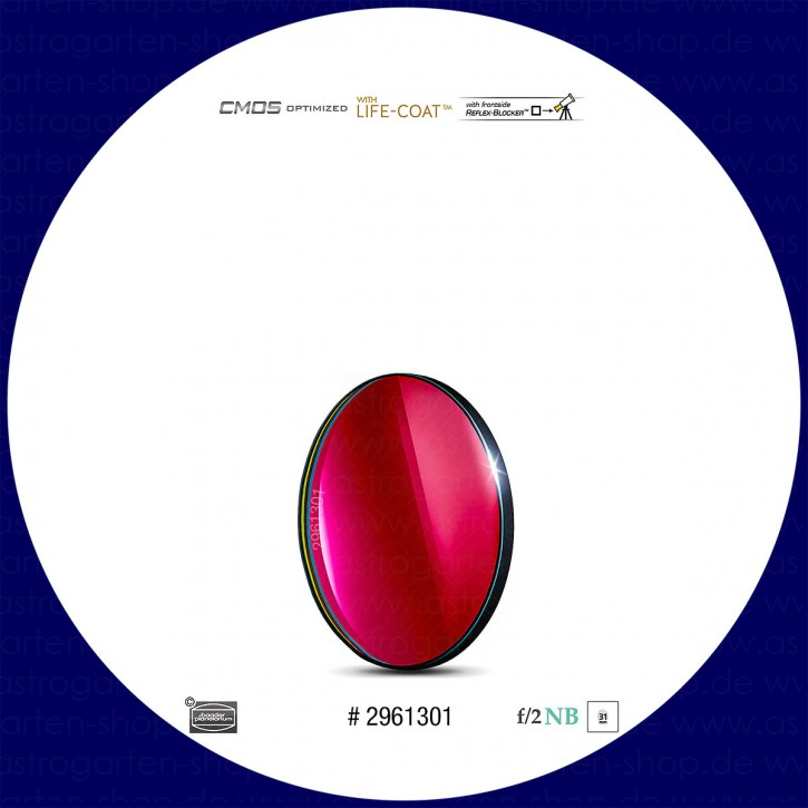 Baader S-II 6.5nm Schmalband (Narrowband) f/2 Highspeed Filter 31mm - CMOS optimiert