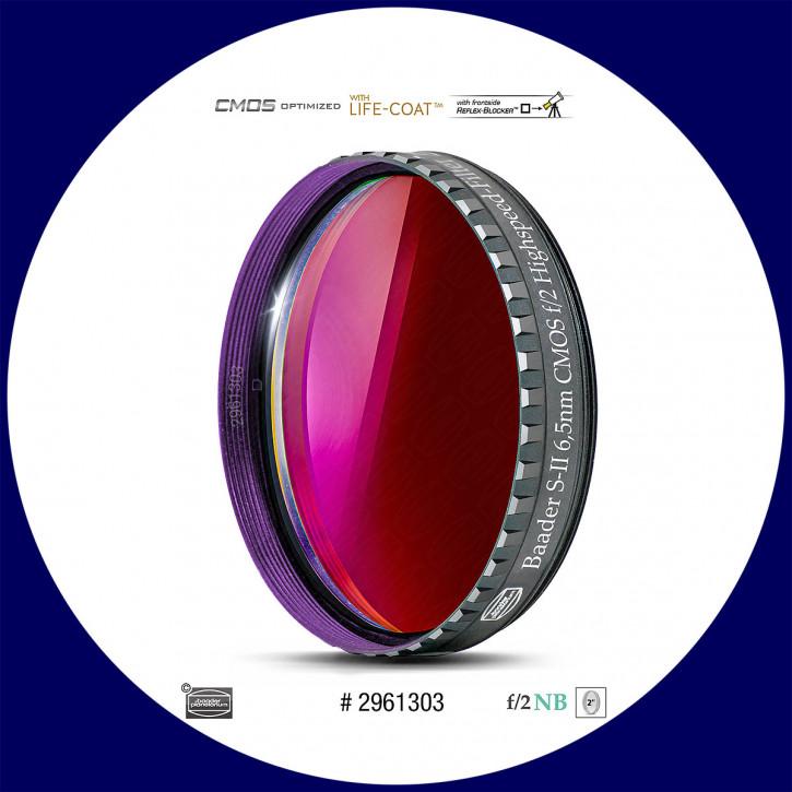 "Baader S-II 6.5nm Schmalband (Narrowband) f/2 Highspeed Filter 2"" - CMOS optimiert"