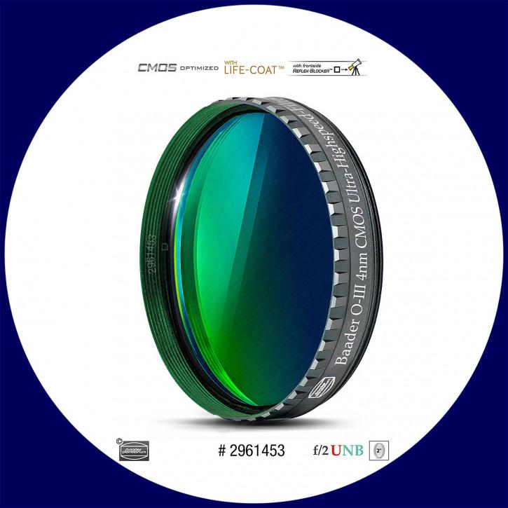 "Baader O-III 4nm Ultra-Schmalband (Narrowband) f/2 Highspeed Filter 2"" - CMOS optimiert"