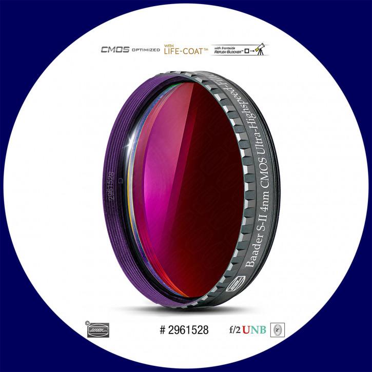 "Baader S-II 4nm Ultra-Schmalband (Narrowband) f/2 Highspeed Filter 2"" - CMOS optimiert"