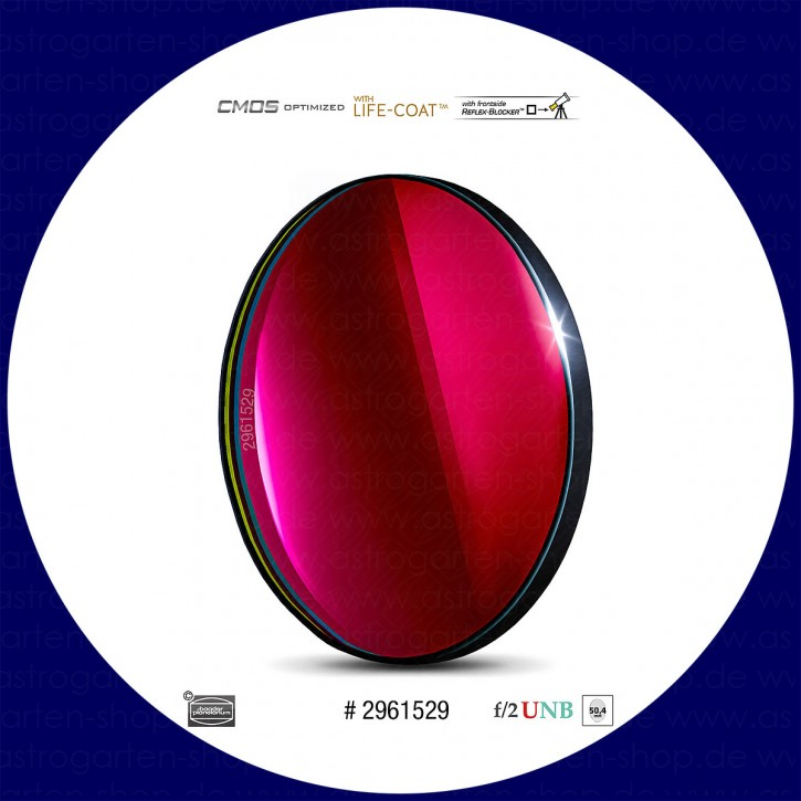Baader S-II 4nm Ultra-Schmalband (Narrowband) f/2 Highspeed Filter 50,4mm - CMOS optimiert