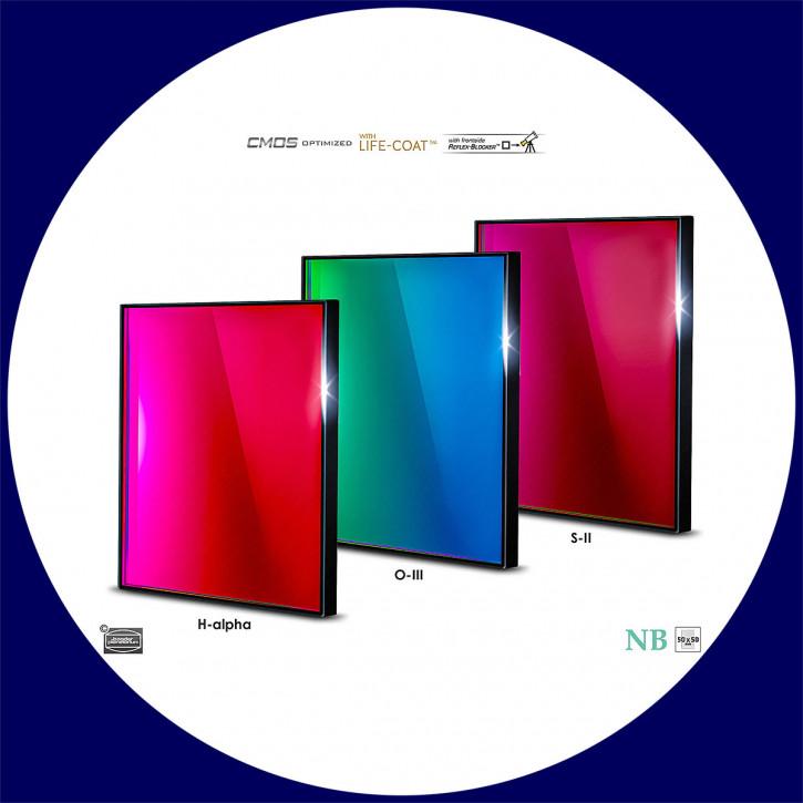 Baader H-alpha / O-III / S-II 6.5nm Schmalband (Narrowband) Filtersatz 50x50mm - CMOS optimiert