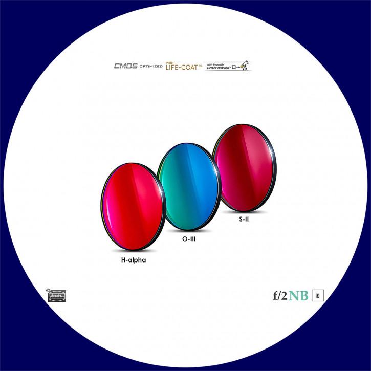 Baader H-alpha / O-III / S-II 6.5nm Schmalband (Narrowband) f/2 Highspeed Filtersatz 31mm - CMOS optimiert