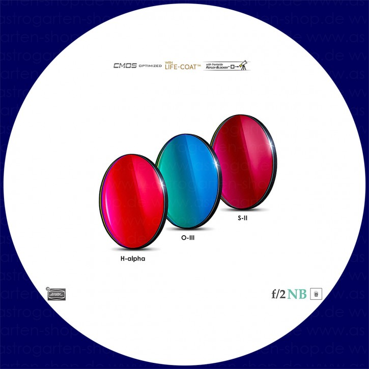 Baader H-alpha / O-III / S-II 6.5nm Schmalband (Narrowband) f/2 Highspeed Filtersatz 36mm - CMOS optimiert