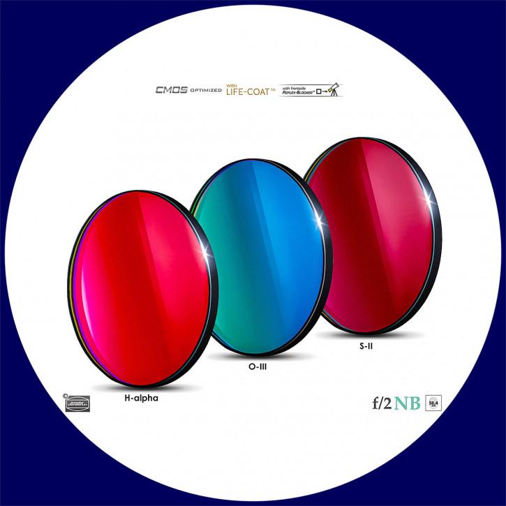 Baader H-alpha / O-III / S-II 6.5nm Schmalband (Narrowband) f/2 Highspeed Filtersatz 50,4mm - CMOS optimiert