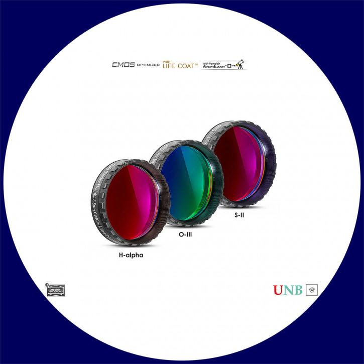 "Baader 3.5nm H-alpha / 4nm O-III / 4nm S-II Ultra-Schmalband (Narrowband) Filtersatz 1¼"" - CMOS optimiert"