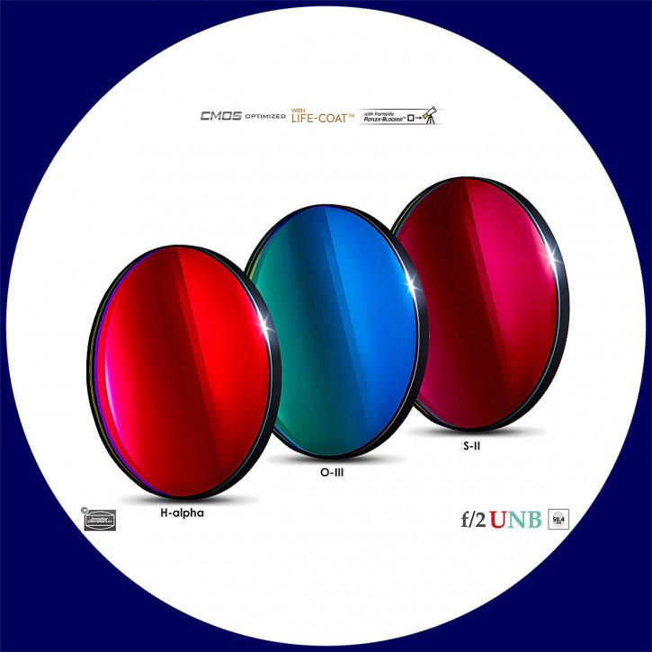 Baader 3.5nm H-alpha / 4nm O-III / 4nm S-II Ultra-Schmalband (Narrowband) f/2 Highspeed Filtersatz 50,4mm - CMOS optimiert