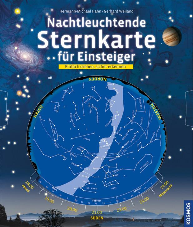 Nachtleuchtende Sternkarte für Einsteiger (german)
