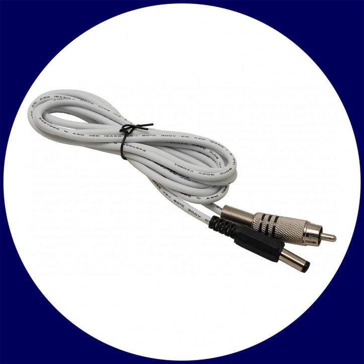 LACERTA RCA Stecker auf Hohlstecker 5,5mm/2,1mm - 2m