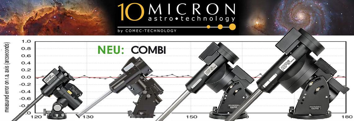 Die neue 10Micron GM 2000 HPS II Combi GoTo Montierung