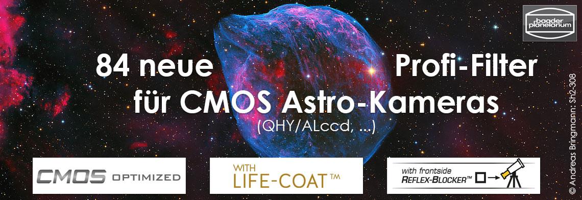 84 neue Profi-Filter für CMOS Astro-Kameras