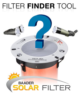 Find your Baader Solar Filter
