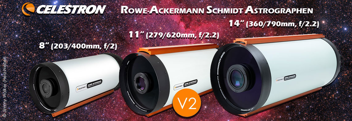 "Celestron RASA f/2 Astrographen-Familie: 8"", 11"" V2 & 36cm"