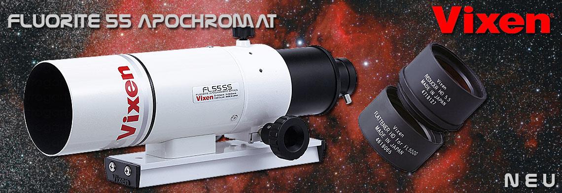 NEU: Vixen FL55 SS Fluorit Apochromat Optik/Tubus