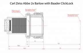 Carl Zeiss Abbe 2-fach Barlowlinse