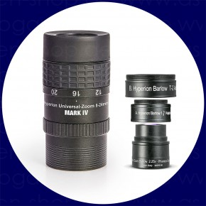 Set: HYPERION MARK IV Zoom 8-24mm Eyepiece + HYPERION Zoom Barlow 2.25x