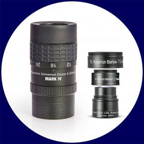 Set: Baader Hyperion MARK IV Universal Zoom Okular 8-24mm + Hyperion Barlowlinse 2.25x