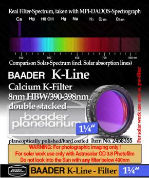 """Baader K-Line Filter 1¼"""" gestackt"""