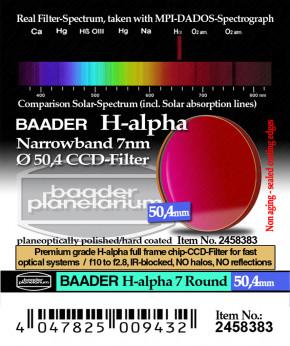 Baader H-alpha 7nm CCD Filter 50.4mm Rund