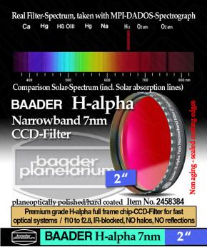"Baader H-alpha 7nm CCD Filter 2"""