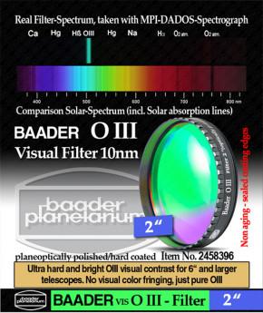 """Baader O III Filter 2"""" - visuell"""