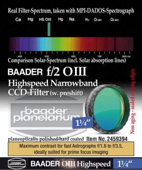 """Baader f/2 Highspeed O III Filter 1.25"""""""
