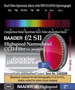 """Baader f/2 Highspeed Filtersatz  2"""": H-alpha, O III, S II"""